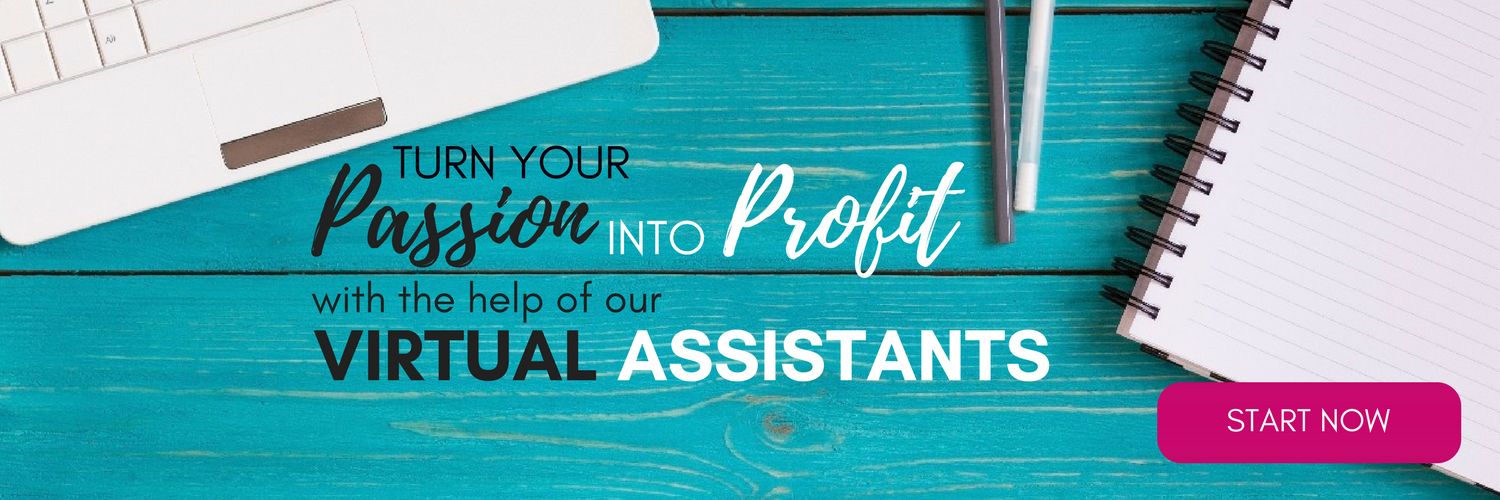 Virtual Assistant Banner - Turn your Passion into Profit - Click to learn more
